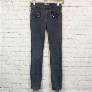 Madewell   Skinny skinny Gray front zipper Jeans